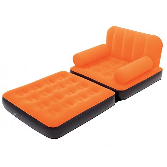 Mega opblaasbare oranje sofa 191 cm