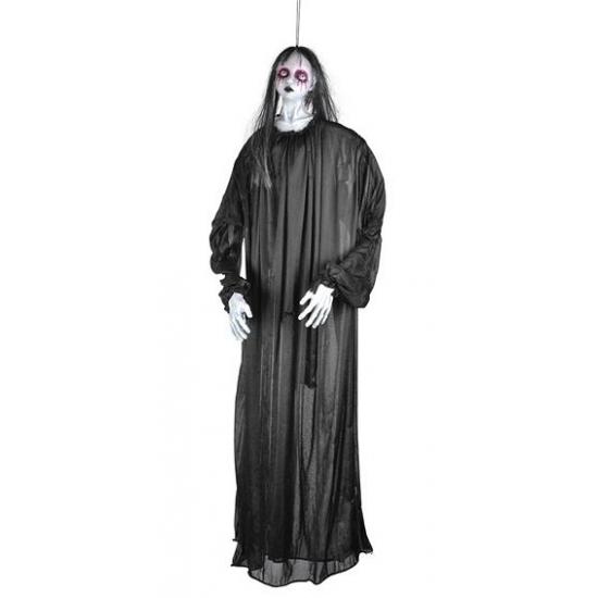 Meisjes spook hangpop in het zwart 120 cm