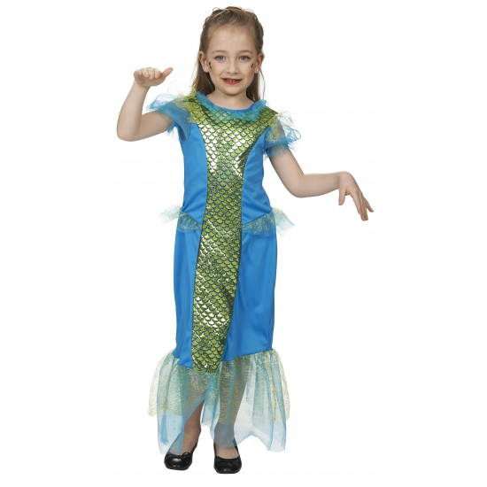 Meisjes zeemeerminnen kostuum