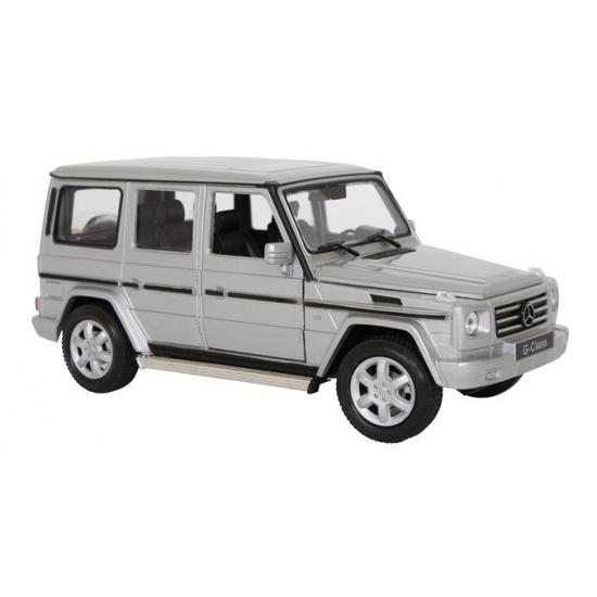 Mercedes Jeep zilveren schaalmodel