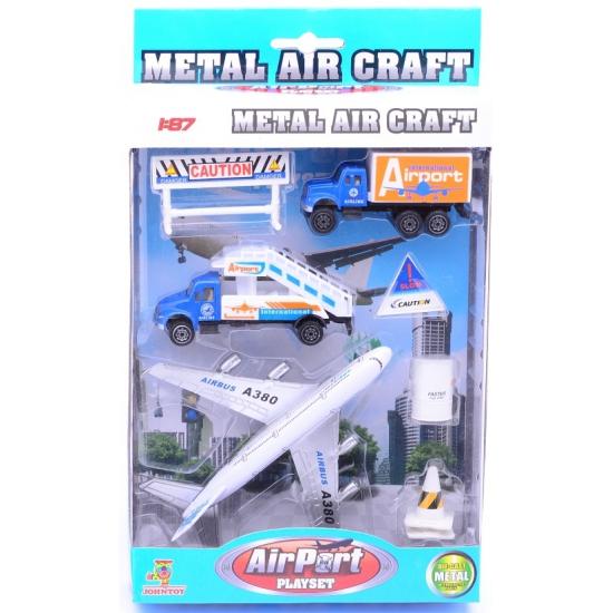 Metal air craft speelgoed met vrachtwagen