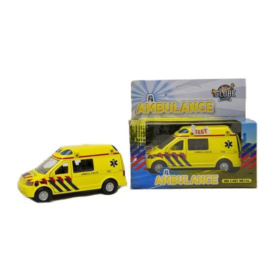 Metalen speelgoed ambulance