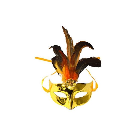 Metallic goud oog masker plastic