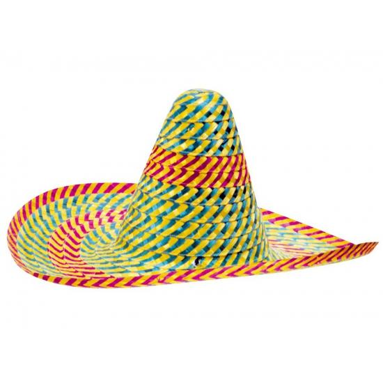 Mexico sombrero gekleurd 50 cm