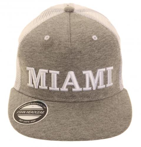 Miami pet grijs met grote klep