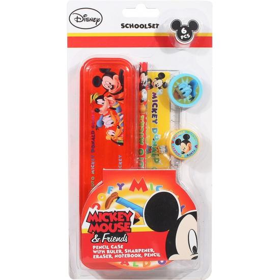 Mickey Mouse school benodigdheden 6 delig