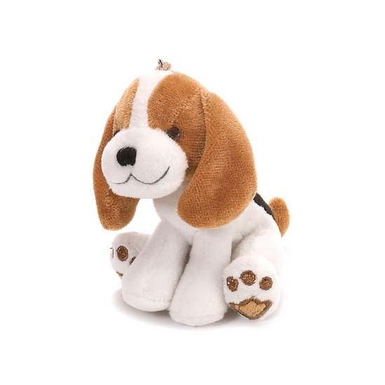 Mini knuffeltje beagle met lusje
