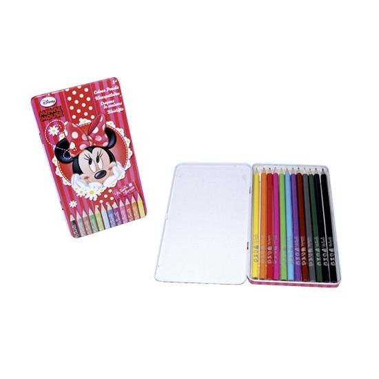 Minnie Mouse blik met kleurpotloden