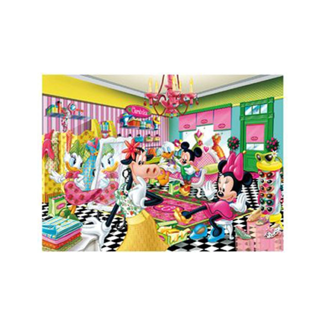 Minnie Mouse puzzel winkelen 60 stukjes