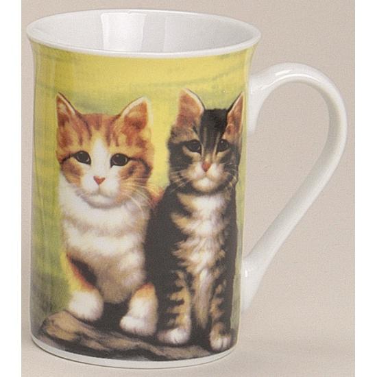 Mok met katten groen 10 cm