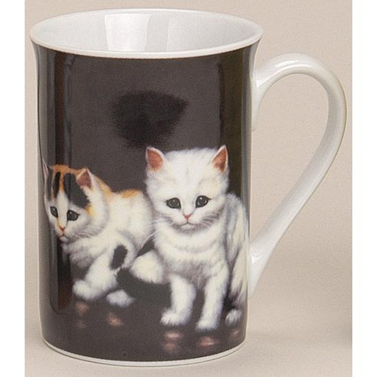 Mok met katten zwart 10 cm