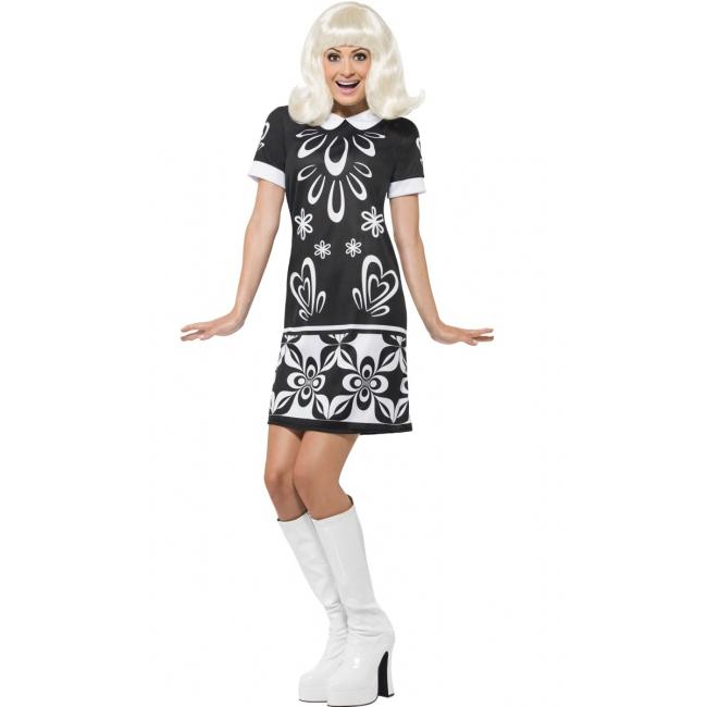 Monochroom sixties kostuum voor dames