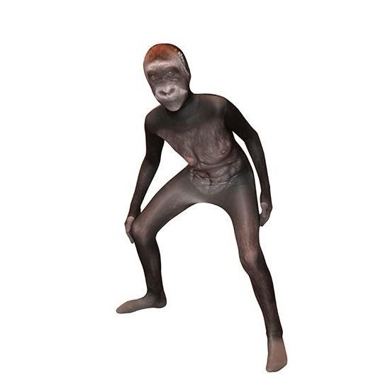 Morphsuit met gorilla opdruk