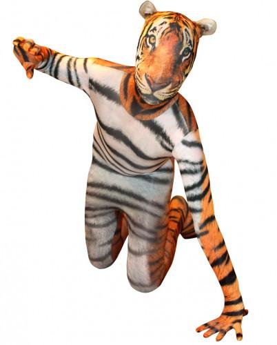 Morphsuit met tijger opdruk