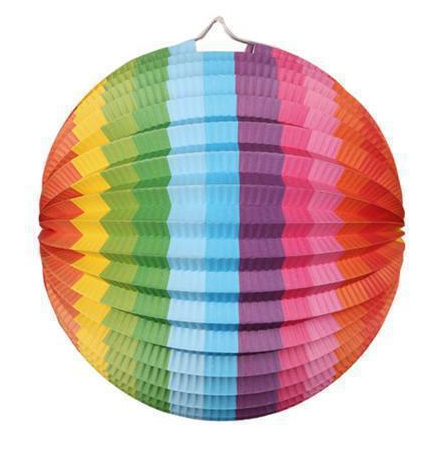 Multi color lampion rond 25 cm