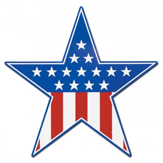 Muurdecoratie Amerika ster 38 cm