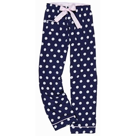 Navy blauwe broek katoenflanel