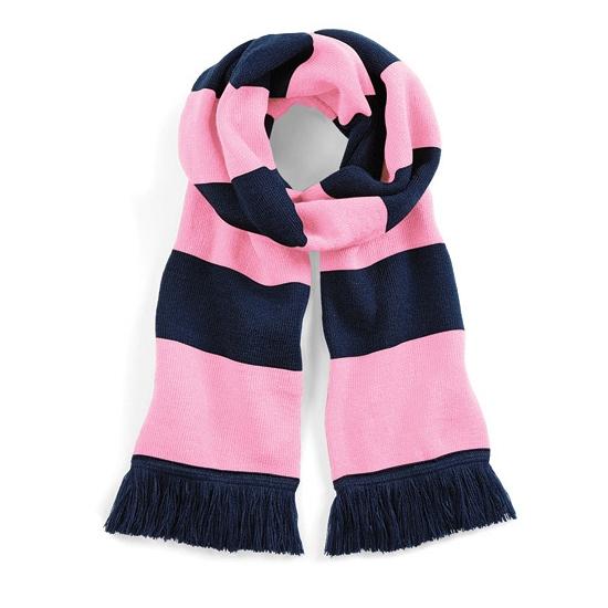 Navy met roze retro sjaal 182 cm
