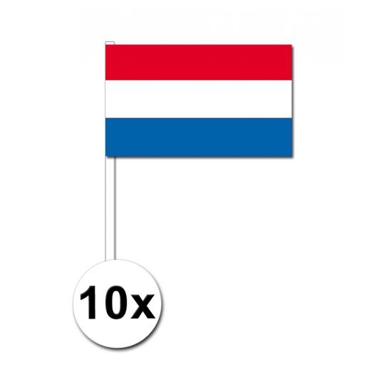 Nederland zwaai vlaggetjes 10 stuks