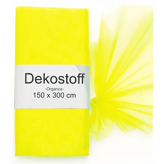 Neon gele organza stof 150 x 300 cm