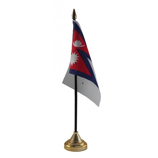 Nepal vlaggetje voor op tafel