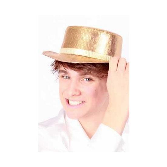 Nette hoed Lou Bandy stijl goud