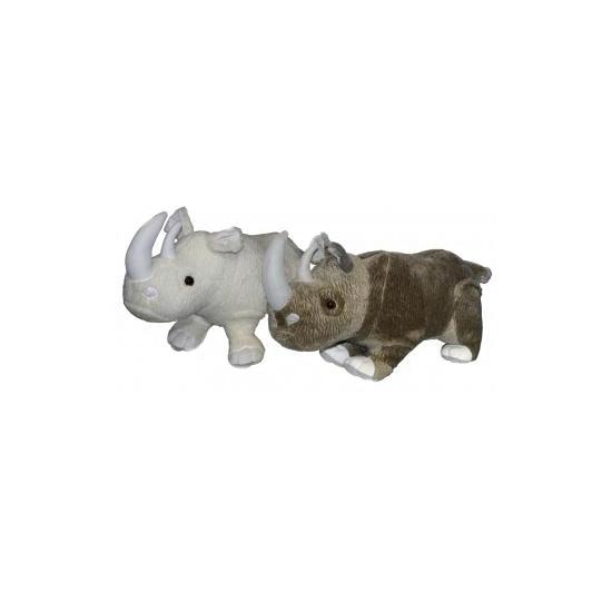 Neushoorn knuffel grijs