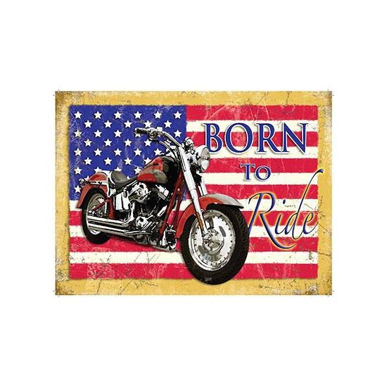 Nostalgisch bord Born to Ride