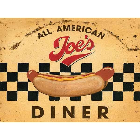 Nostalgisch bord Diner