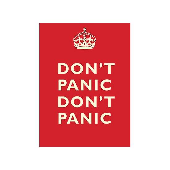 Nostalgisch bord Don t Panic