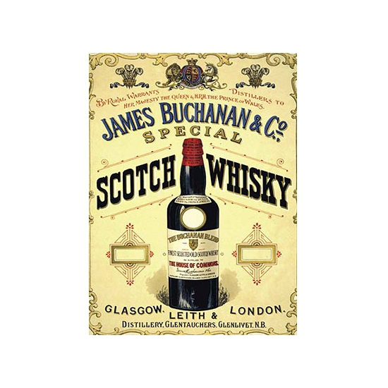 Nostalgisch bord James Buchanan