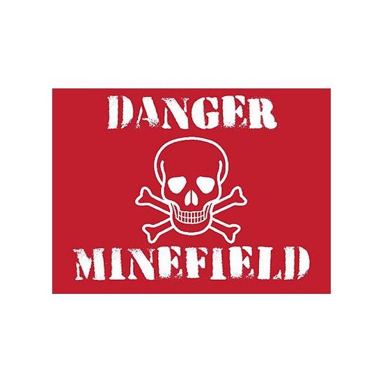 Nostalgisch bord Minefield