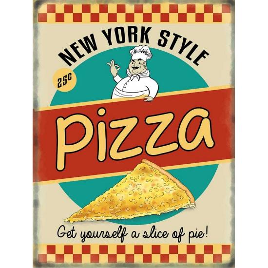 Nostalgisch bord Pizza