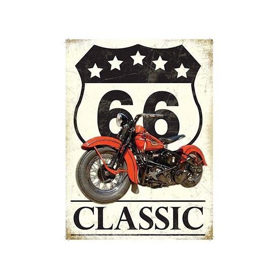 Nostalgisch bord Route 66 Classic