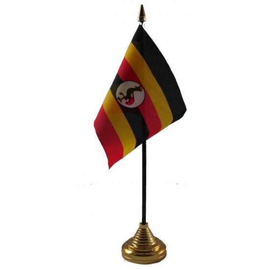 Oeganda vlaggetje voor op tafel