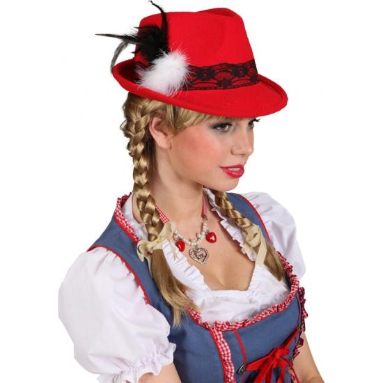 Oktoberfest hoedjes rood