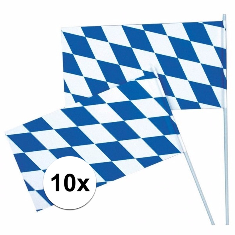 Oktoberfest zwaaivlaggetjes 10 x