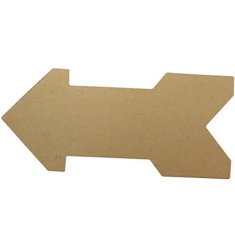 Onbedrukte papier mache pijl van 28 cm