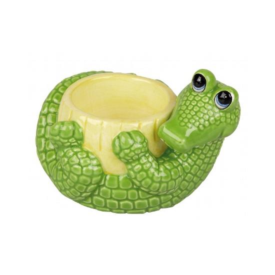 Ontbijt krokodil eierdopje 6 cm