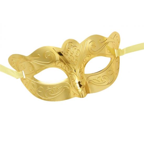 Oogmaskertje metallic goud