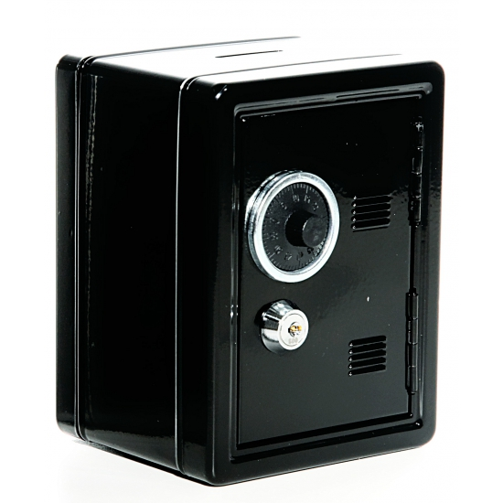 Opberg kluis zwart 16 cm