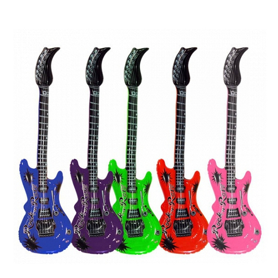 Opblaas gitaar lime 55 cm