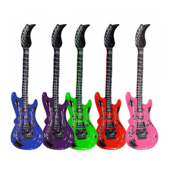 Opblaas gitaar rood 55 cm