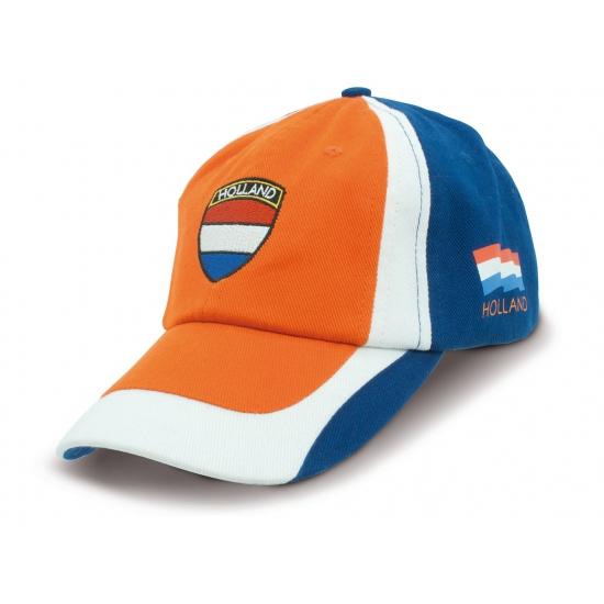 Oranje fan cap voor volwassenen