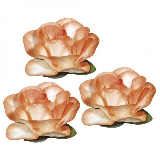Oranje hobby bloemen van papier 1 5 cm