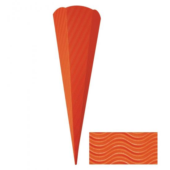 Oranje kartonnen zak 68 cm