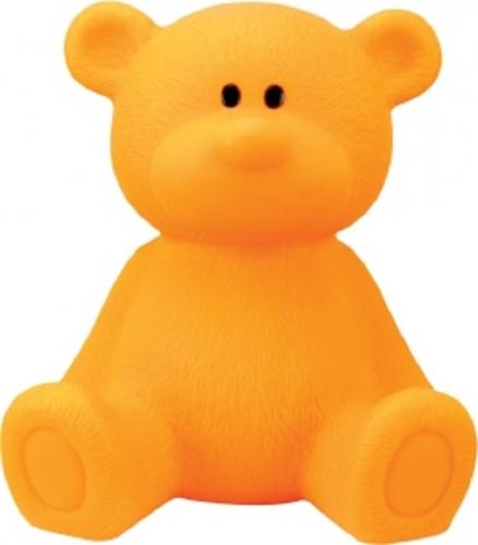 Oranje nachtlamp beer 18 cm