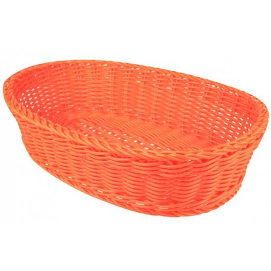 Oranje opbergmandje 36 cm