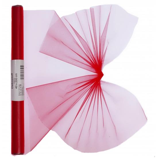 Organza strook rood 40 x 200 cm
