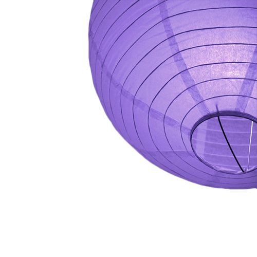 Paarse bol lampion 25 cm